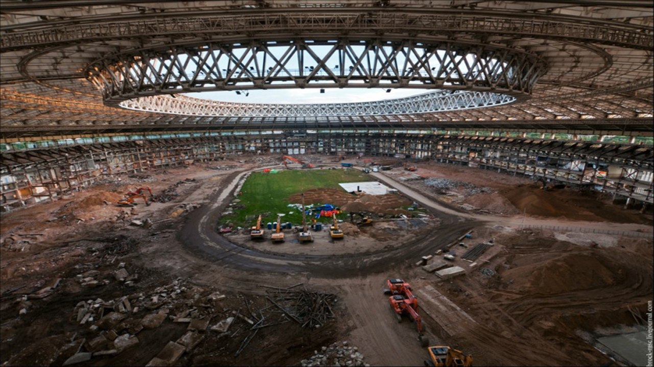 Estadio Luzhnikí Reconstrucción
