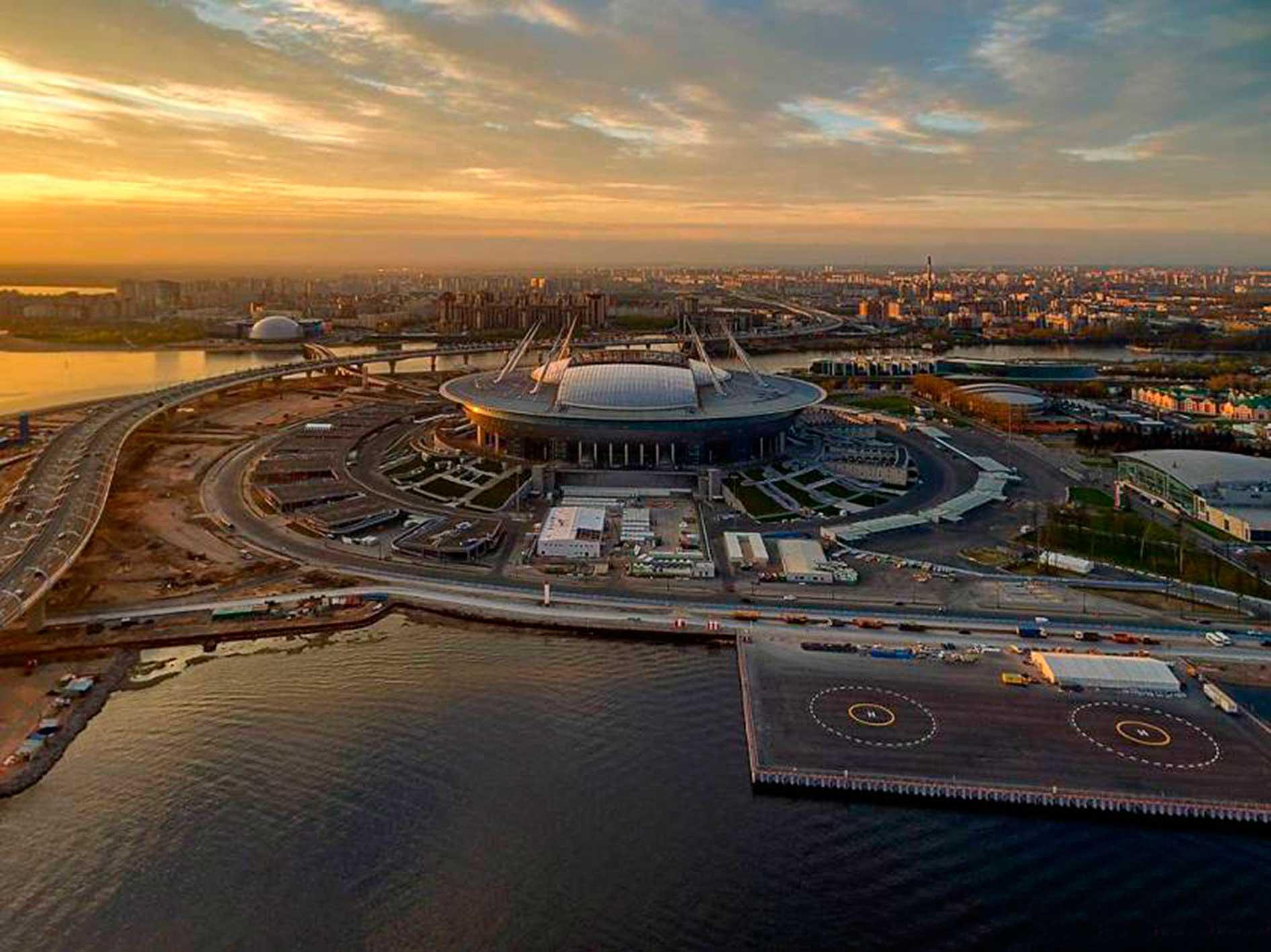 Atardecer en el Zenit Arena