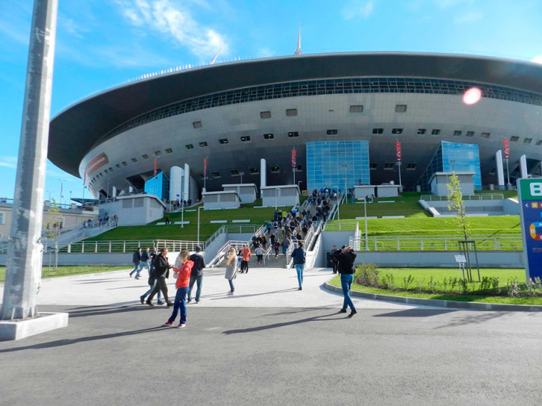 Exterior del Zenit Arena