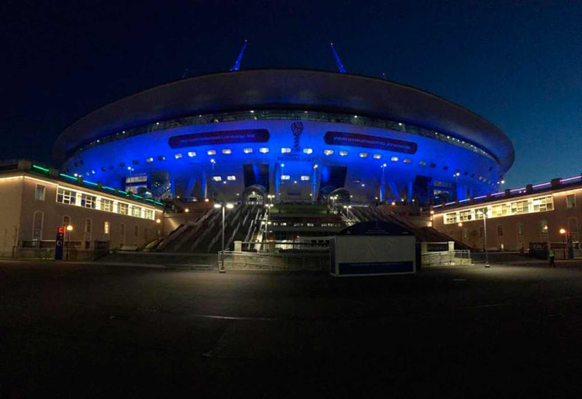 Estadio Zenit Arena de Noche