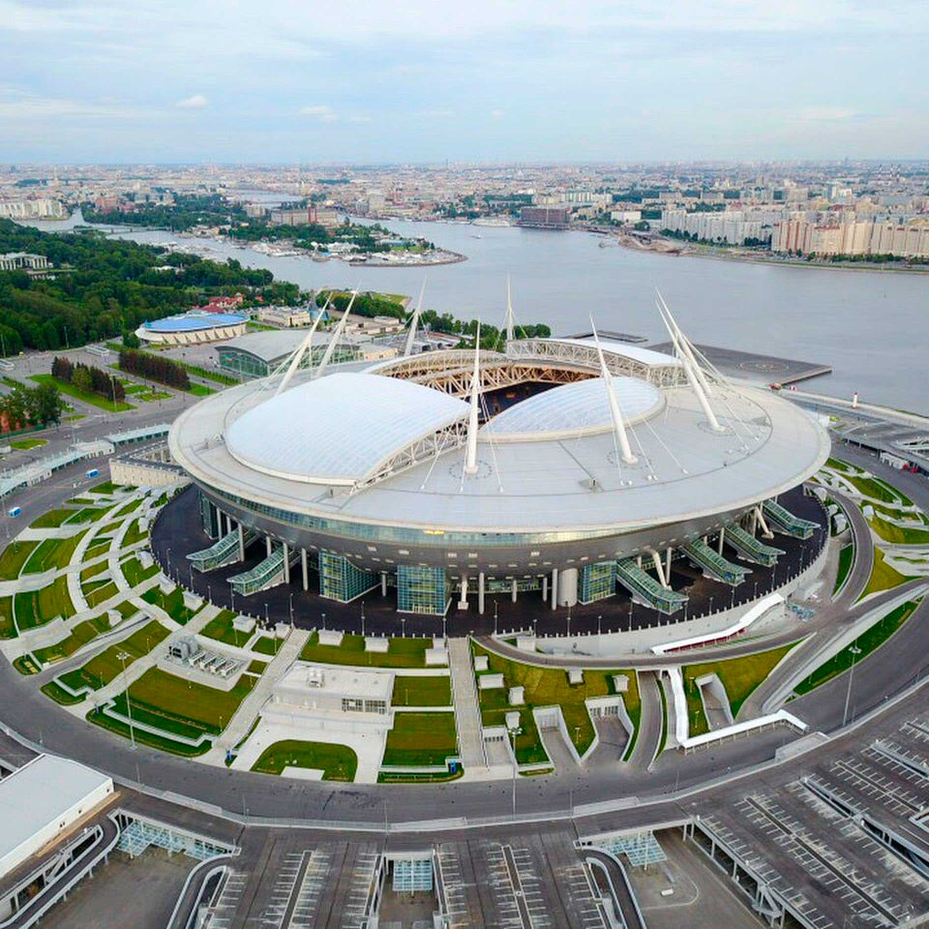 Vista Aérea del Zenit Arena