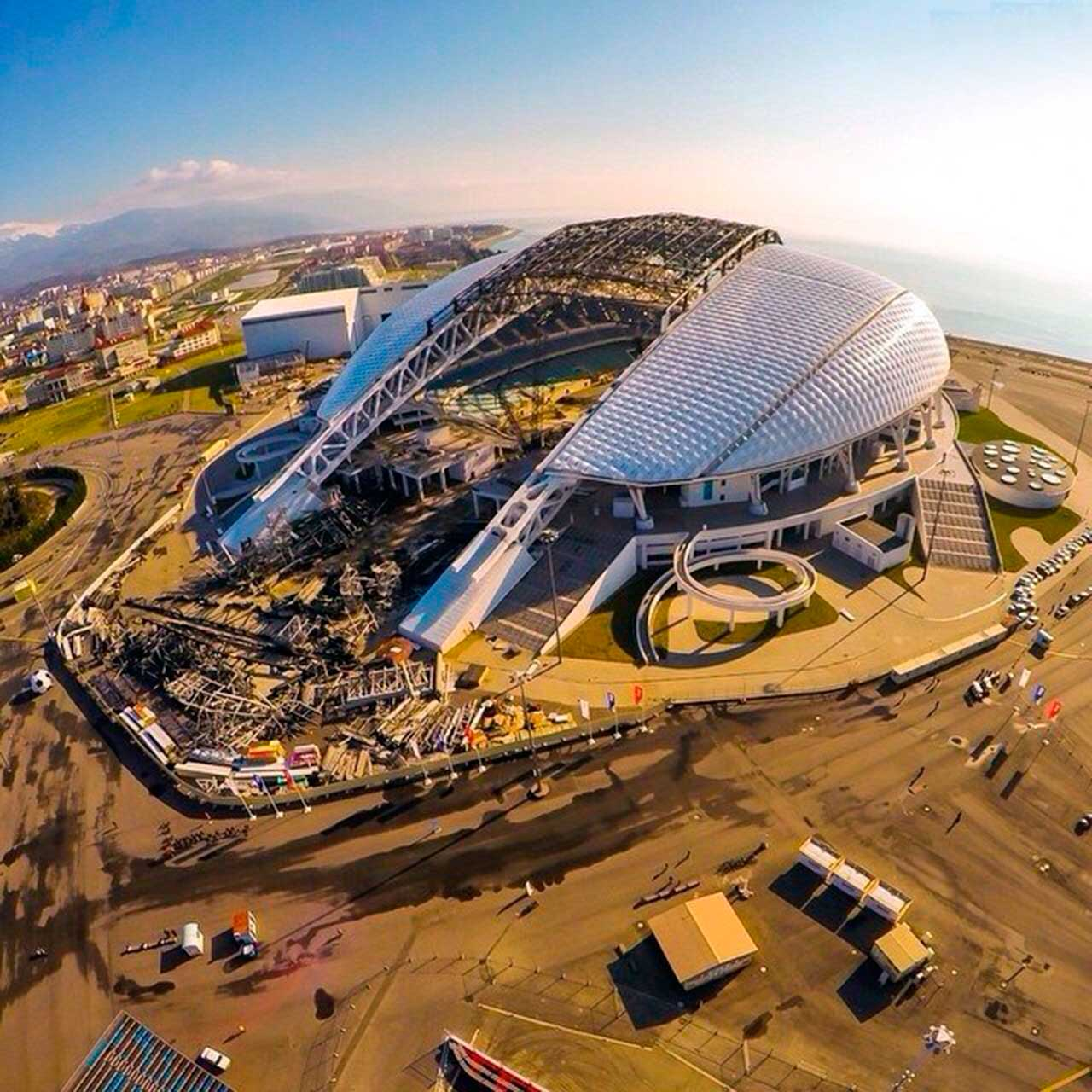 Construcción de Estadio Fisht