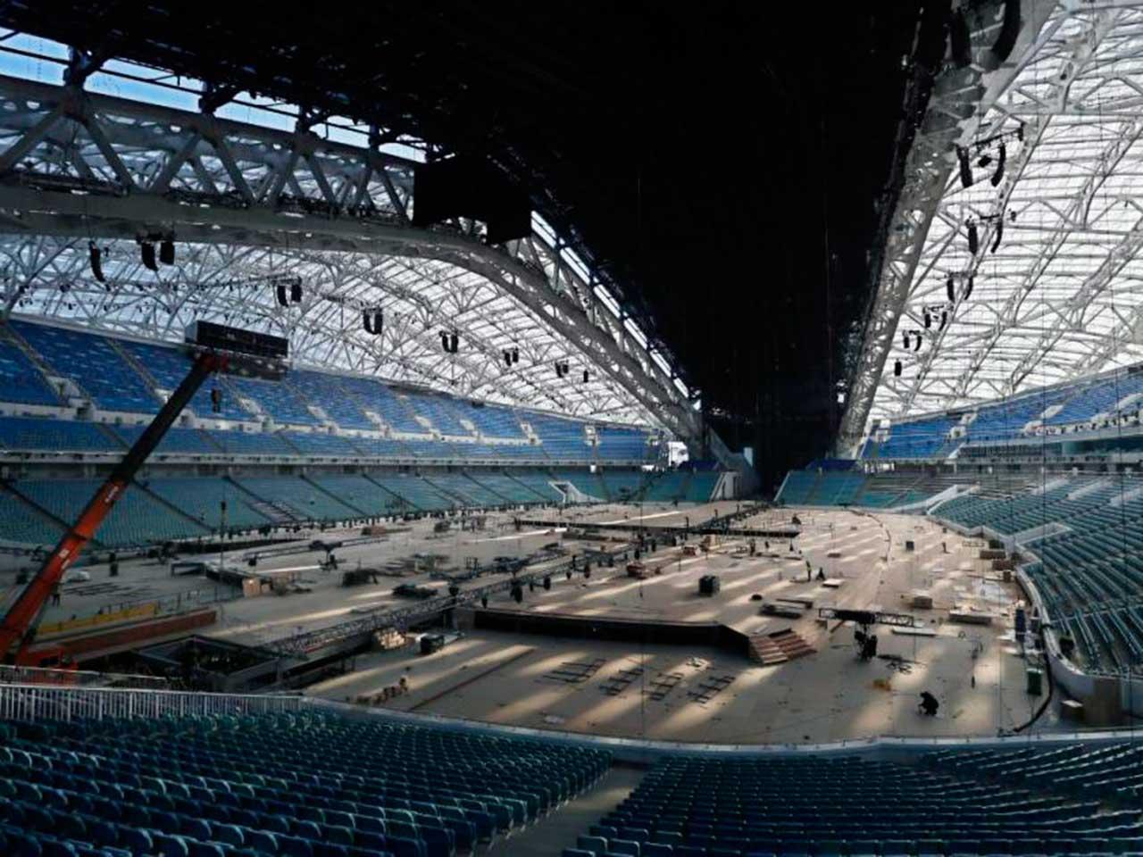 Construcción del Estadio Fisht