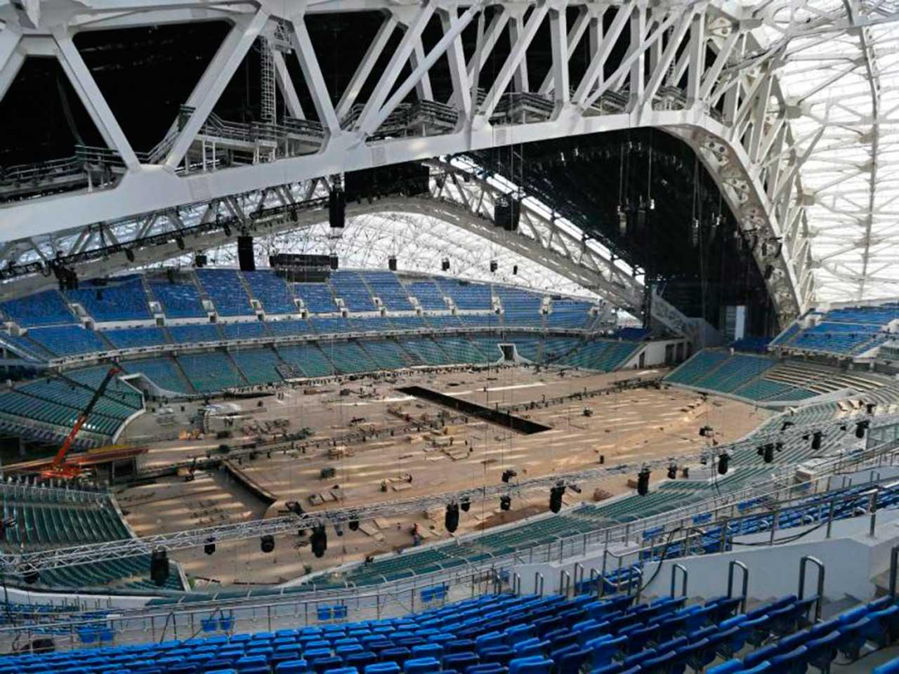 Construcción del Estadio Sochi