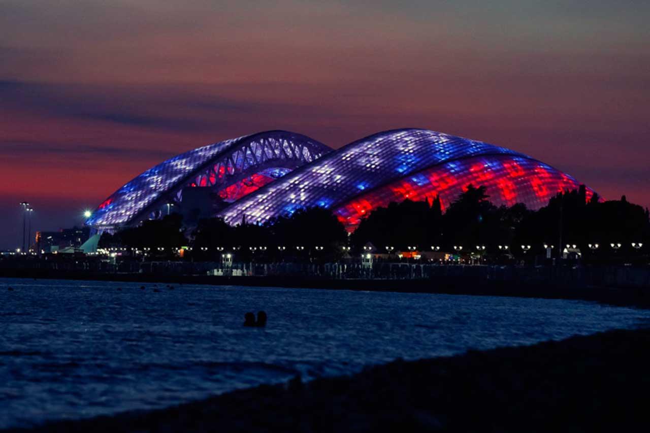 Estadio Olímpico de Sochi Noche