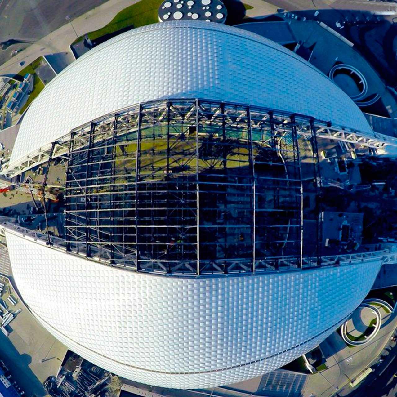 Vista Aérea del Estadio Fisht
